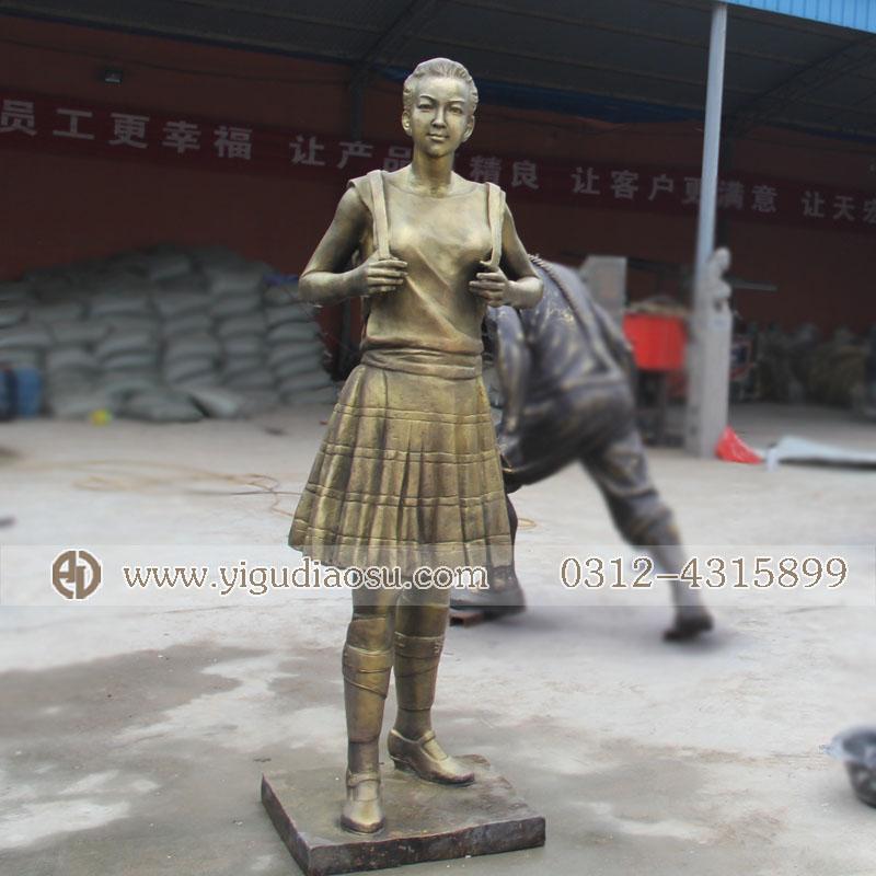 铸铜人物小品雕塑