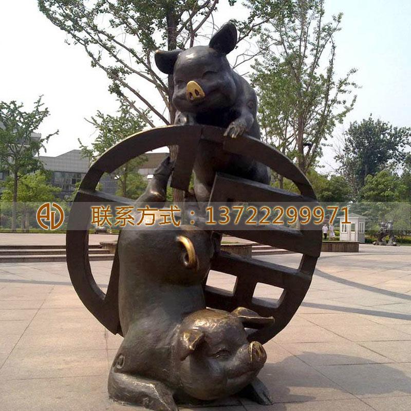 铜雕动物雕塑-曲阳县艺谷园林雕塑有限公司